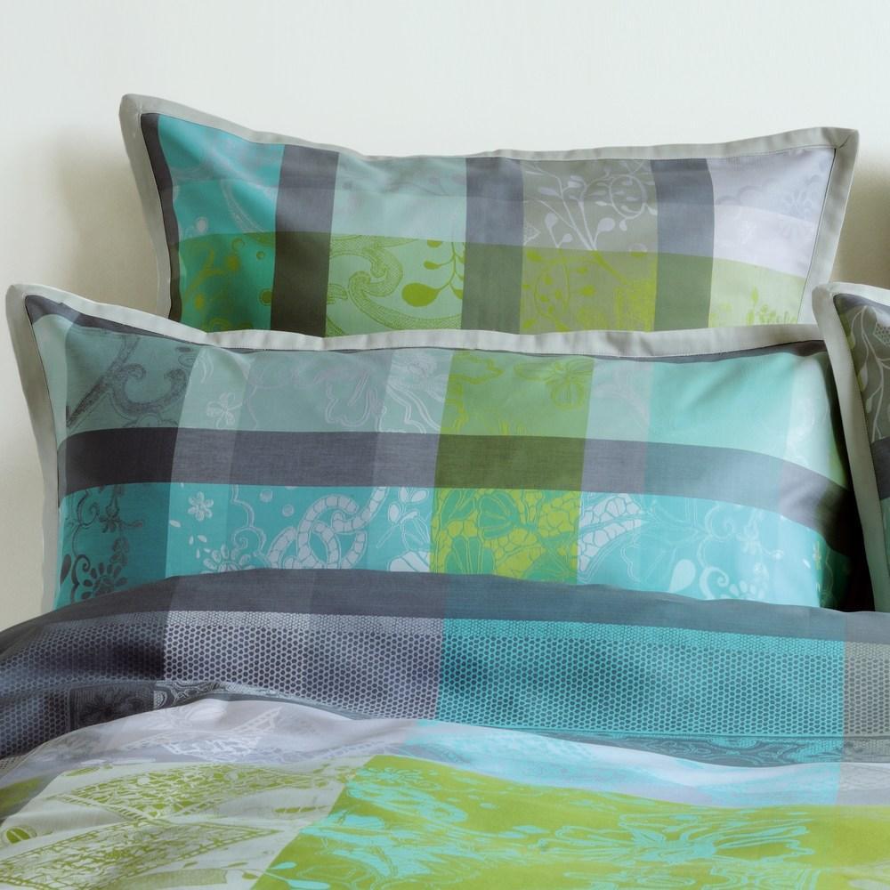 aurore turquoise garnier thiebaut bettw sche seffani. Black Bedroom Furniture Sets. Home Design Ideas