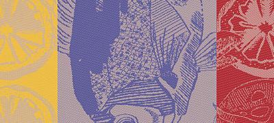 Plancha Turquoise - Garnier Thiebaut Geschirrtuch