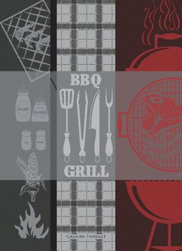 BBQ Charcoal - Garnier Thiebaut Geschirrtuch