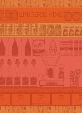 Epicerie Fine Orange - Garnier Thiebaut Geschirrtuch